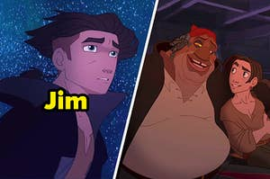 Jim Hawkins and Jim with John Silver