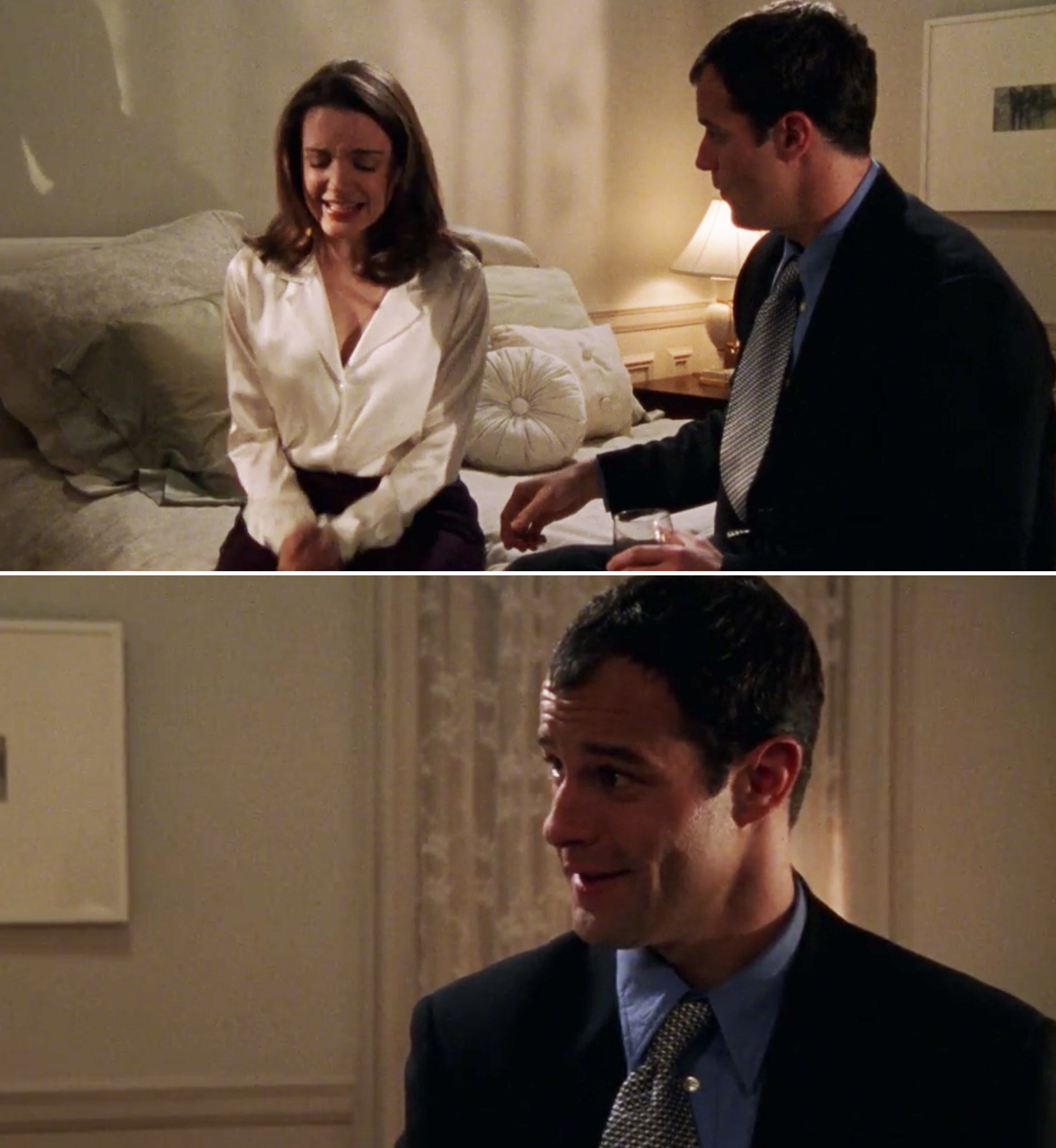 "Josh Stamberg as Brian in ""Sex and the City"" talking to Charlotte"