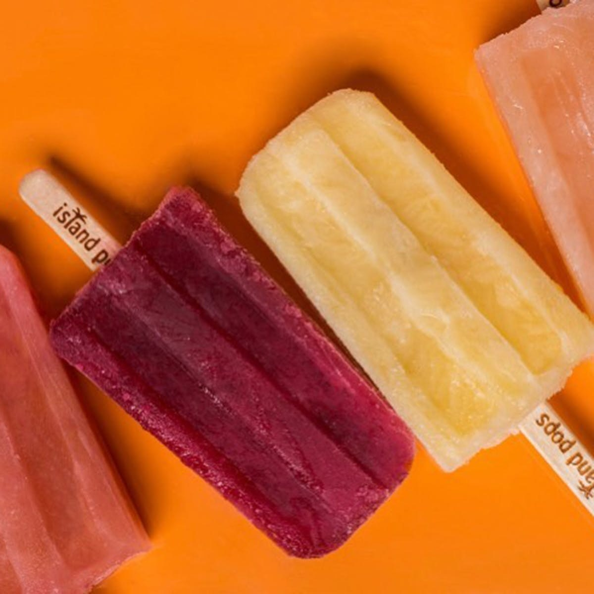 various colorful popsicles