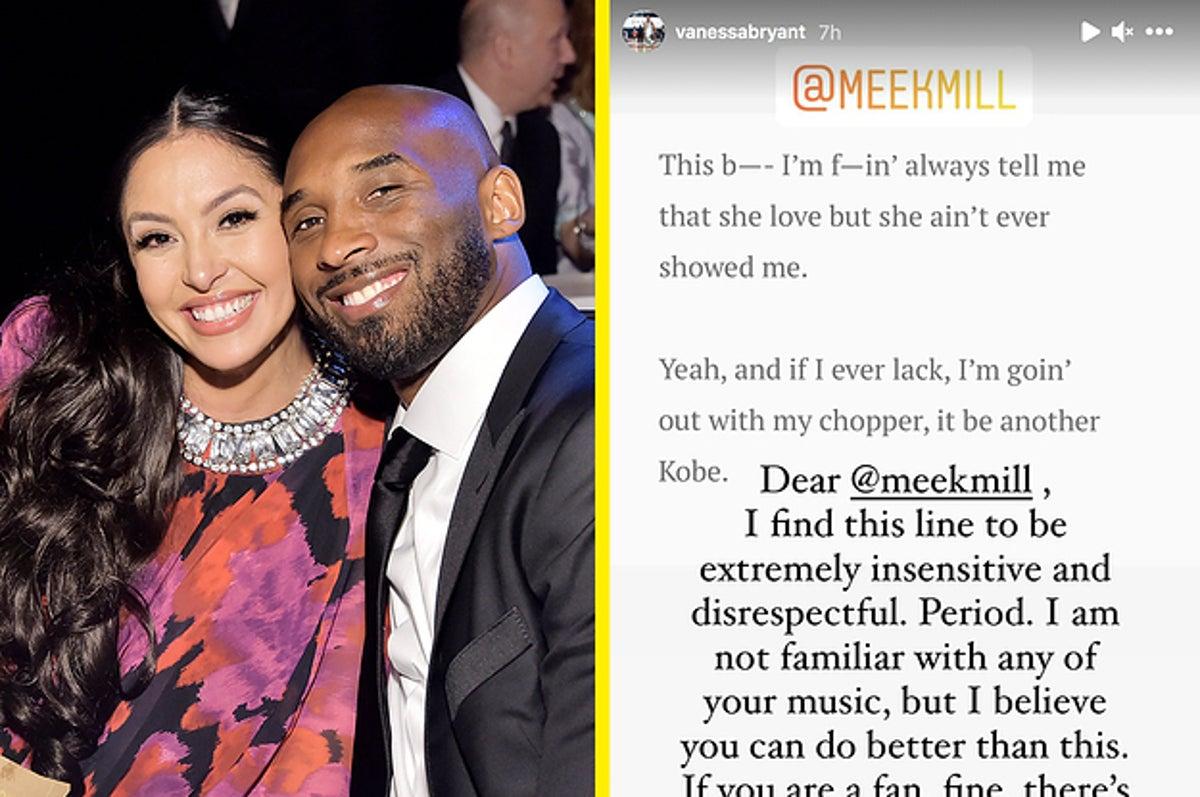 "Vanessa Bryant Calls Out Meek Mill's ""Disrespectful"" Kobe Bryant Lyric"