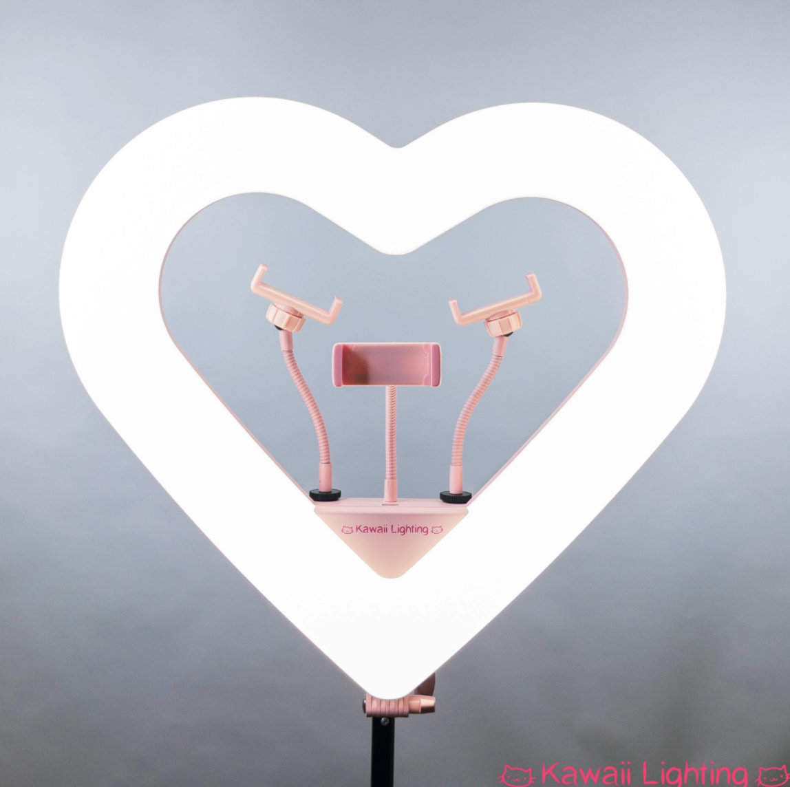 heart ring light with phone holder