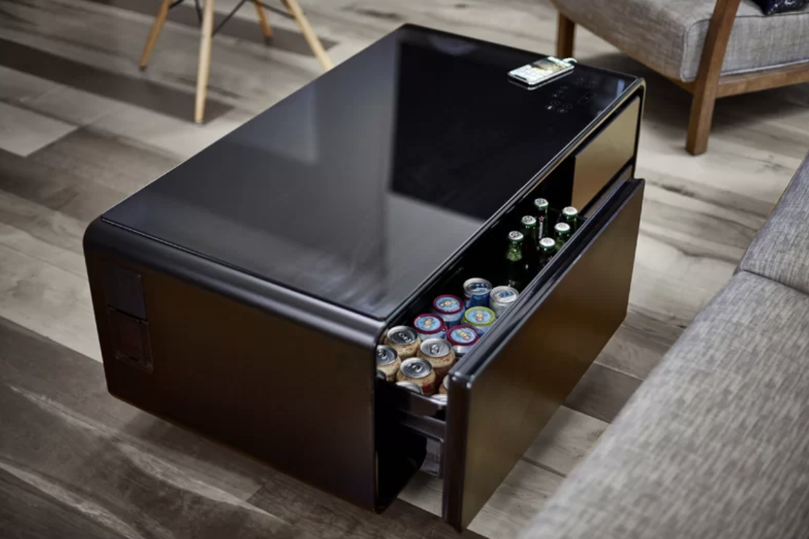 smart coffee table in black