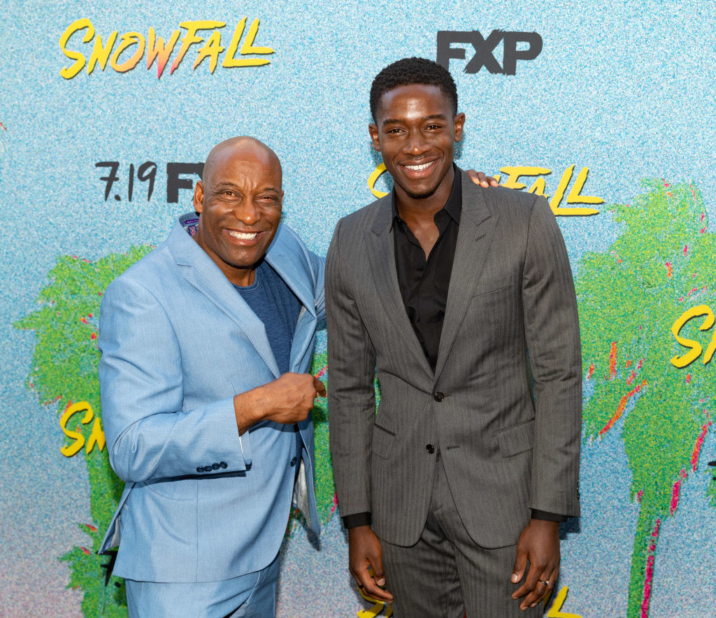 "John Singleton and Damson Idris arrive to the premiere Of FX's ""Snowfall"" Season 2"