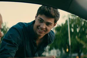 peter kavinsky looking in car window