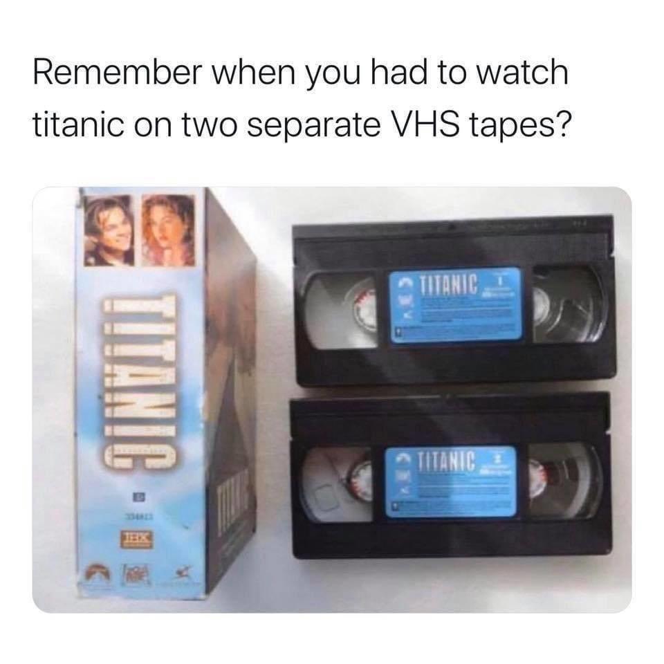 2 vhs tape setup of titanic