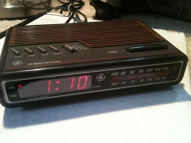 old school arm clock