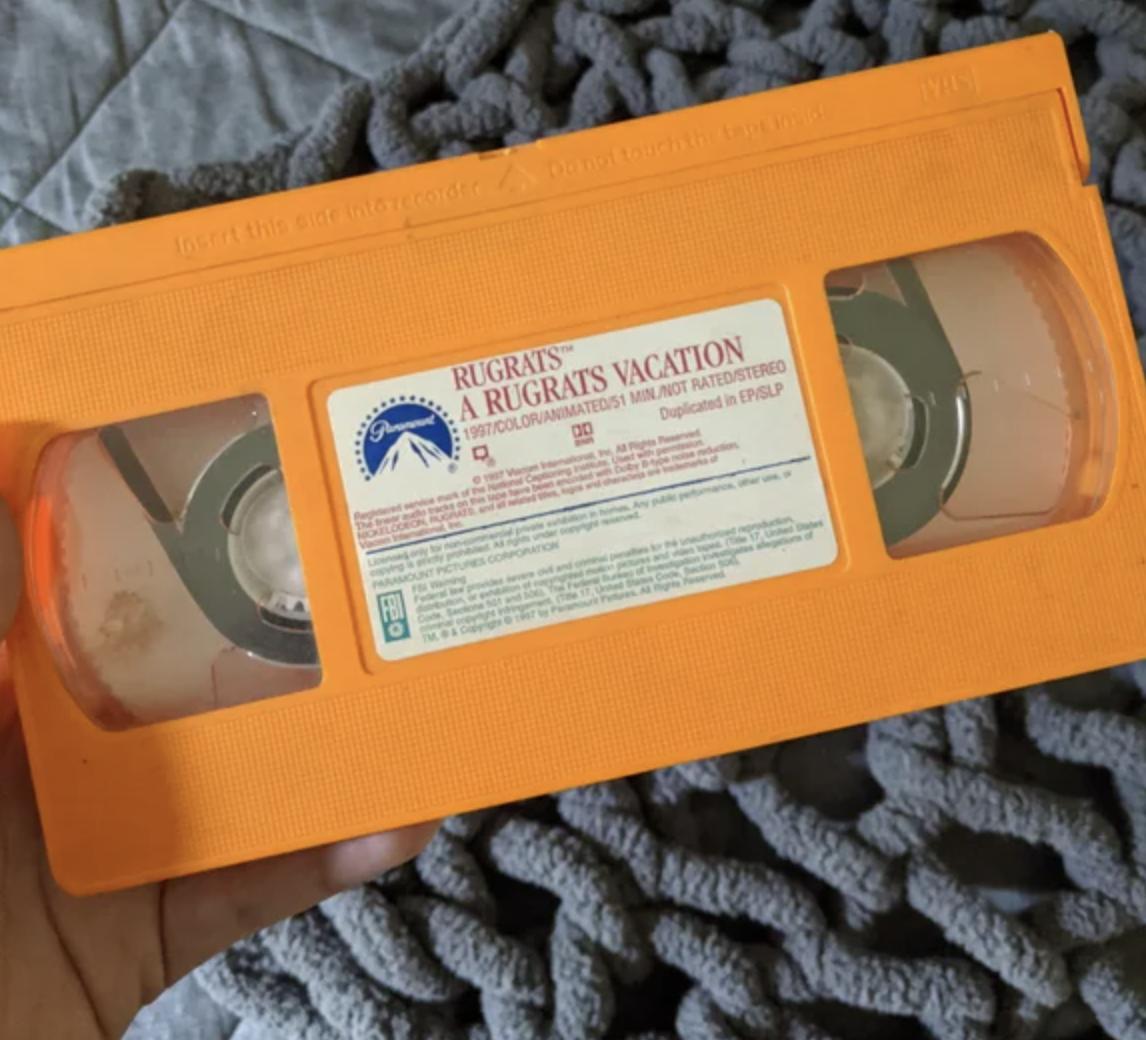 orange vhs tape
