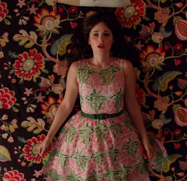 Jess wearing a fancy dress