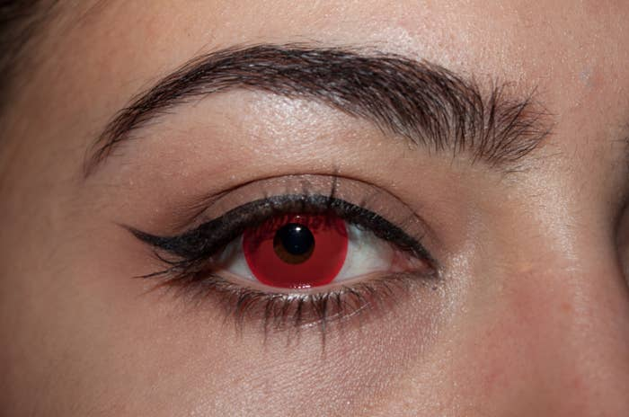 Eye with red iris