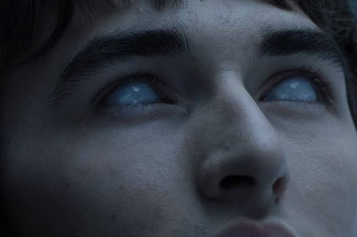 """Bran from """"Game of Thrones"""" with white eyes"""