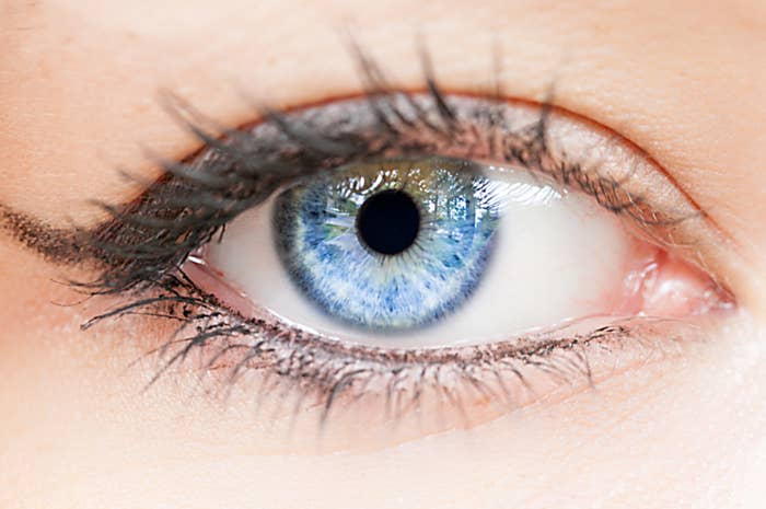 Eye with blue iris