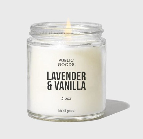 The Lavender and vanilla candle