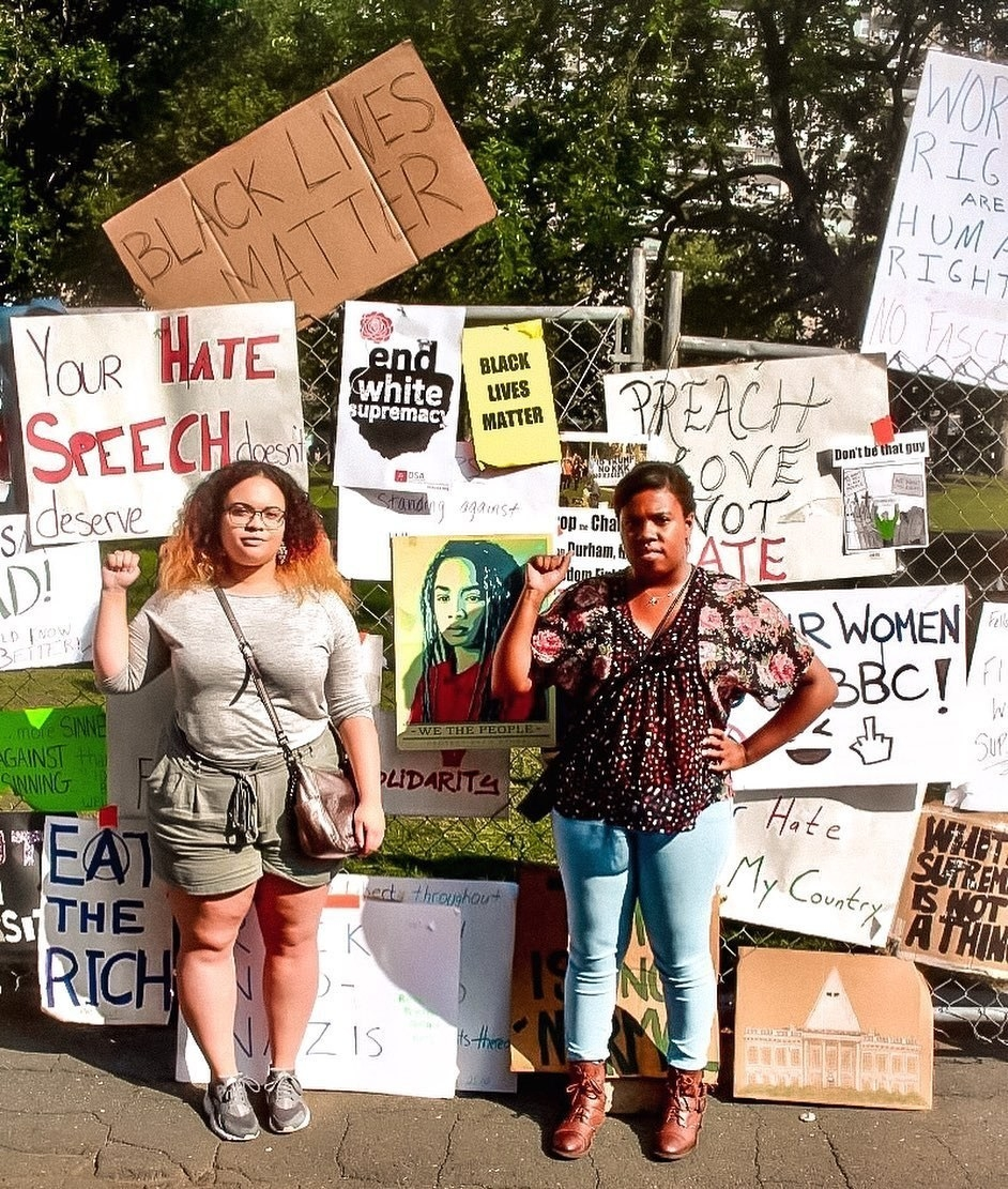 buzzfeed editor and her cousin at a black lives matter march