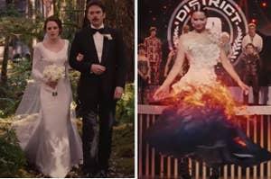 Bella and Katniss's wedding dresses