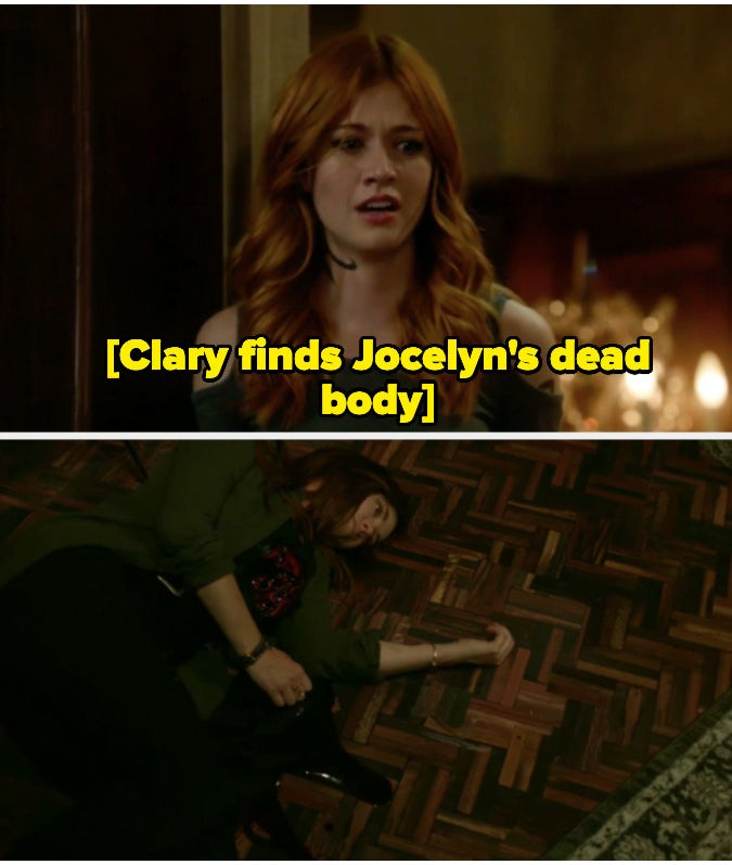Clary finds Jocelyn's body