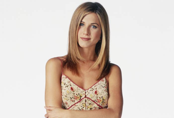Jennifer poses in a promo photo for Friends