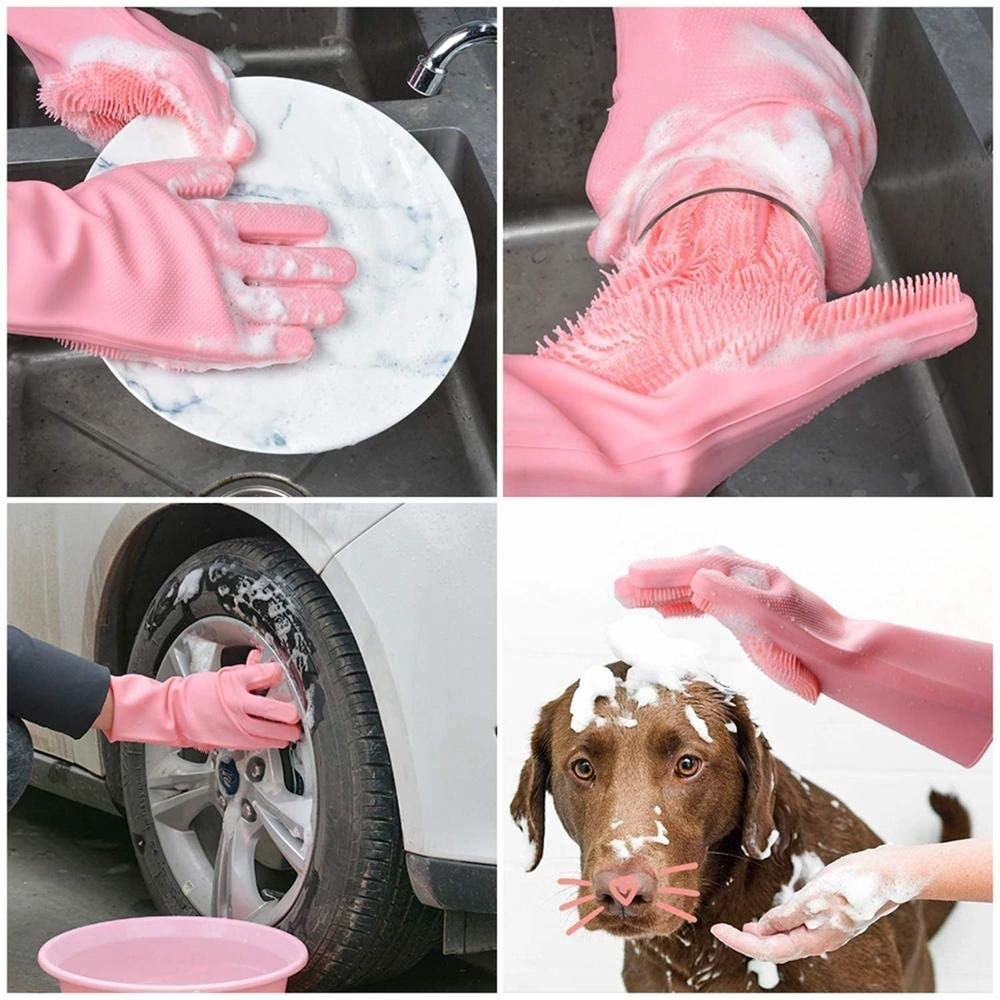 Various ways to use the gloves.