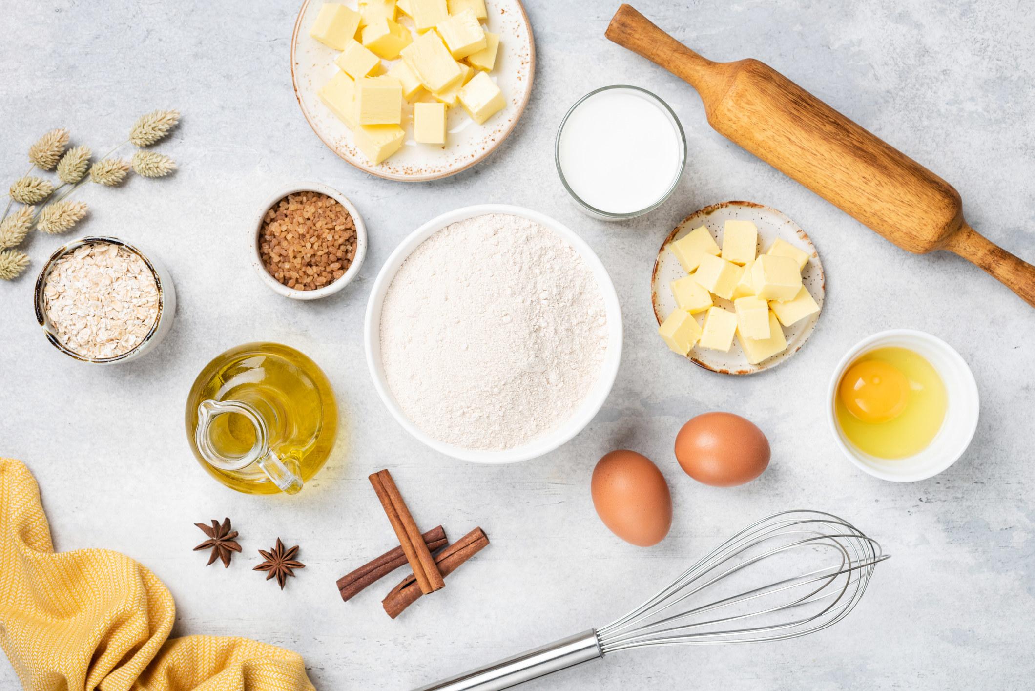 Ingredients for baking.