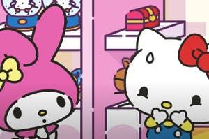 My Melody alongside Hello Kitty