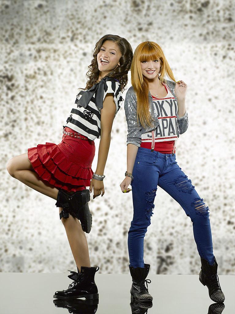 "Disney Channel's ""Shake It Up"" stars Zendaya (L) as Rocky Blue and Bella Thorne as CeCe Jones"