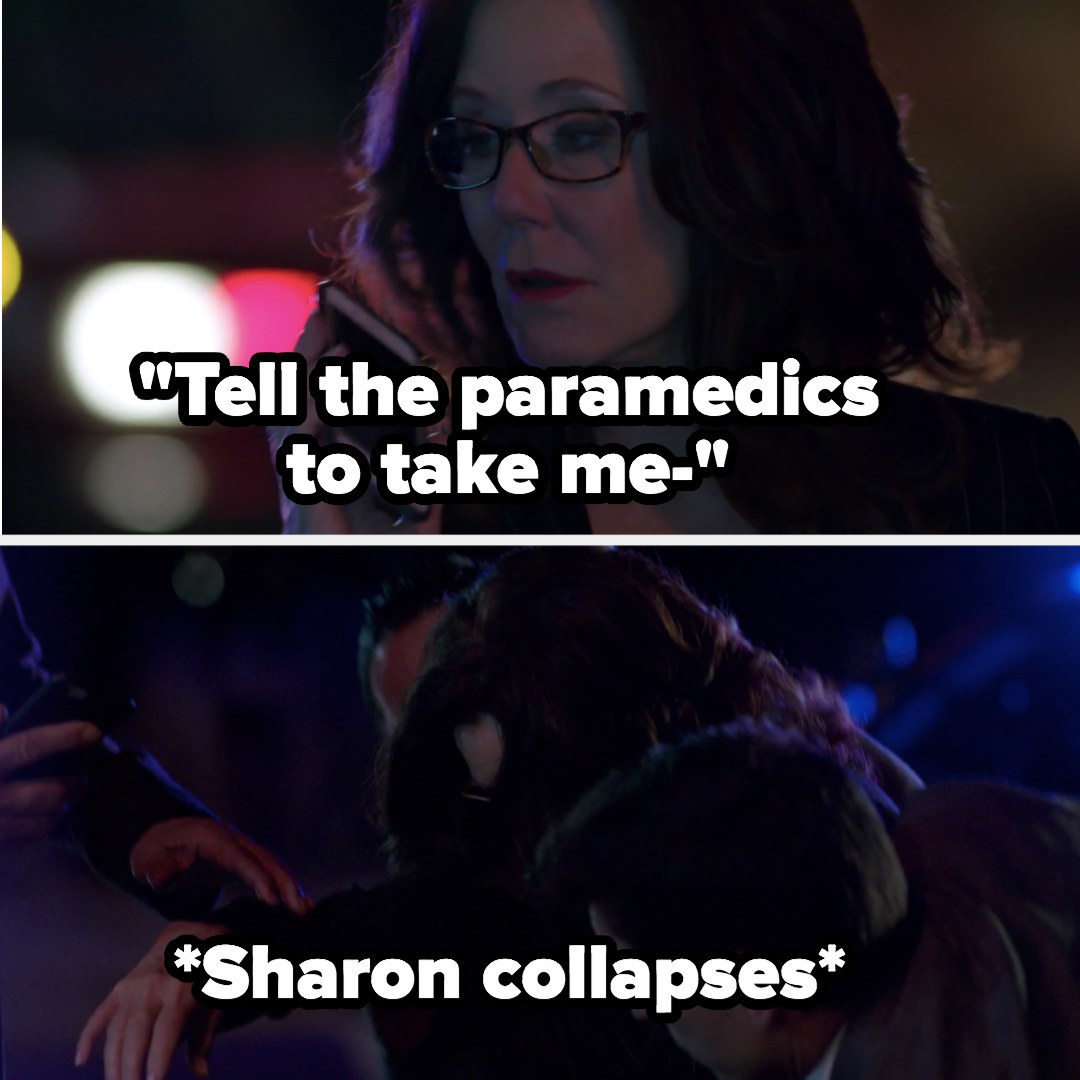 Sharon collapses from her heart condition
