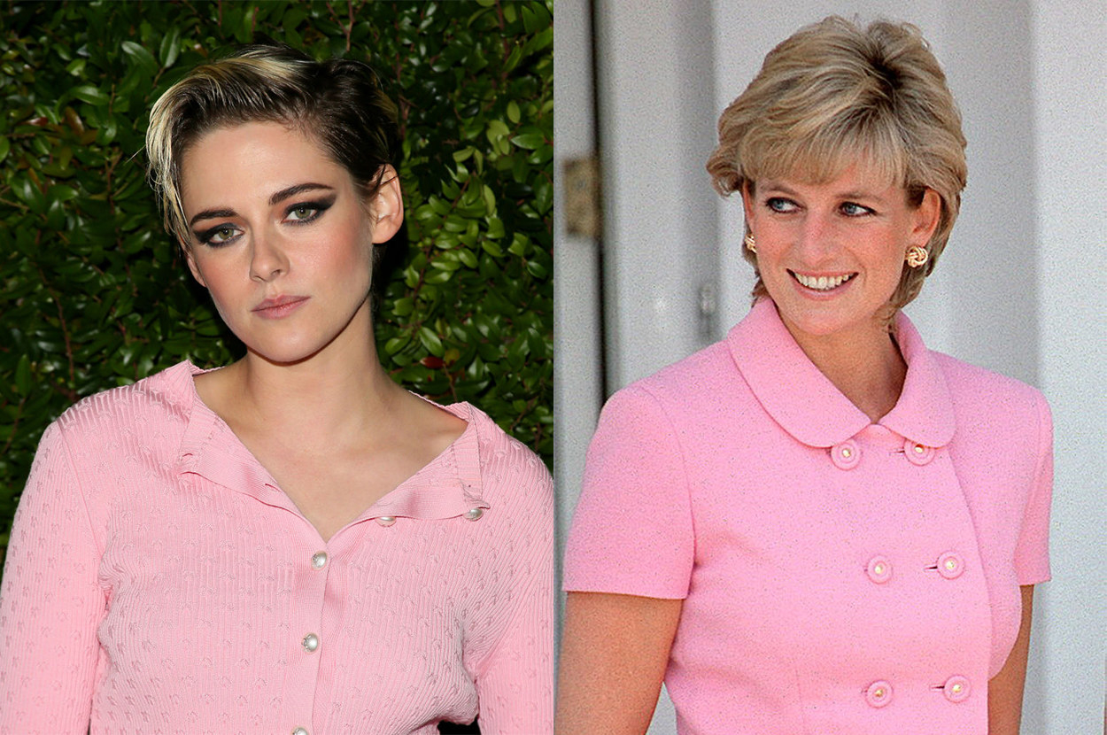 Kristen has a similar jawline and eyes to Diana
