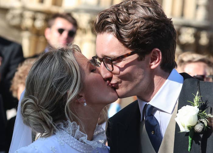 Ellie Goulding and Jasper Jopling seen kissing outside York Minster Cathedral after their wedding ceremony