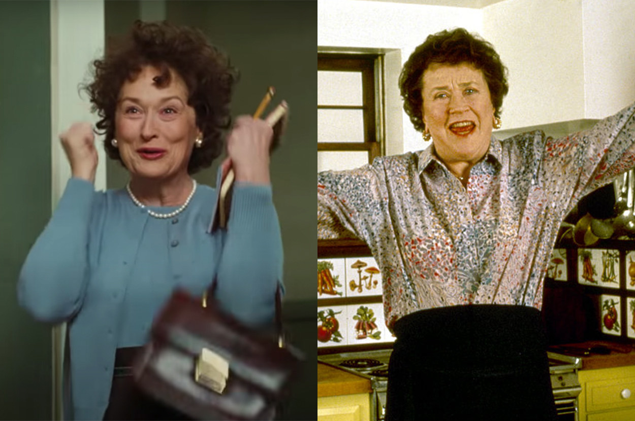 Meryl and Julia both have curly hair