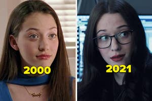 Kat Dennings then vs. now