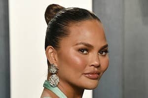 Chrissy Teigen at the 2020 Vanity Fair Oscar Party