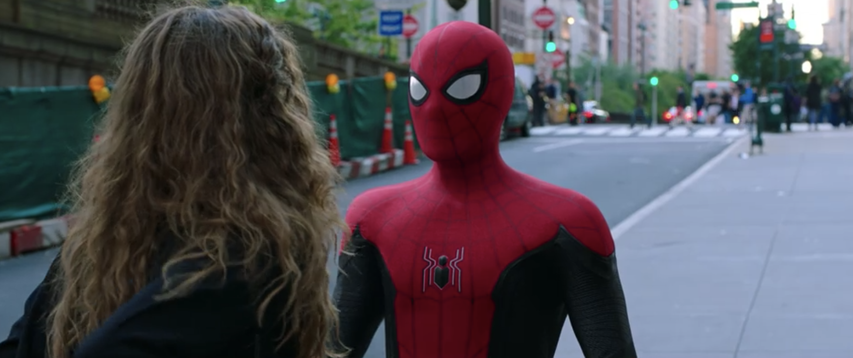 """Spider-Man talking to MJ in """"Spider-Man: Far From Home"""""""