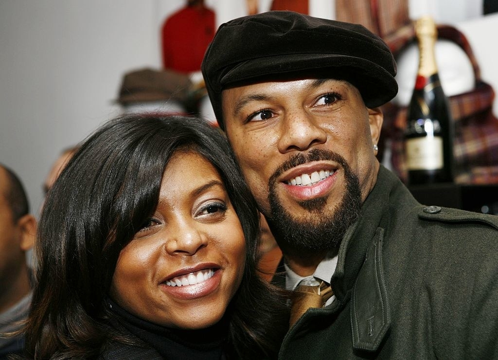 Taraji P. Henson and Common attend the launch of Common's hat line in 2007