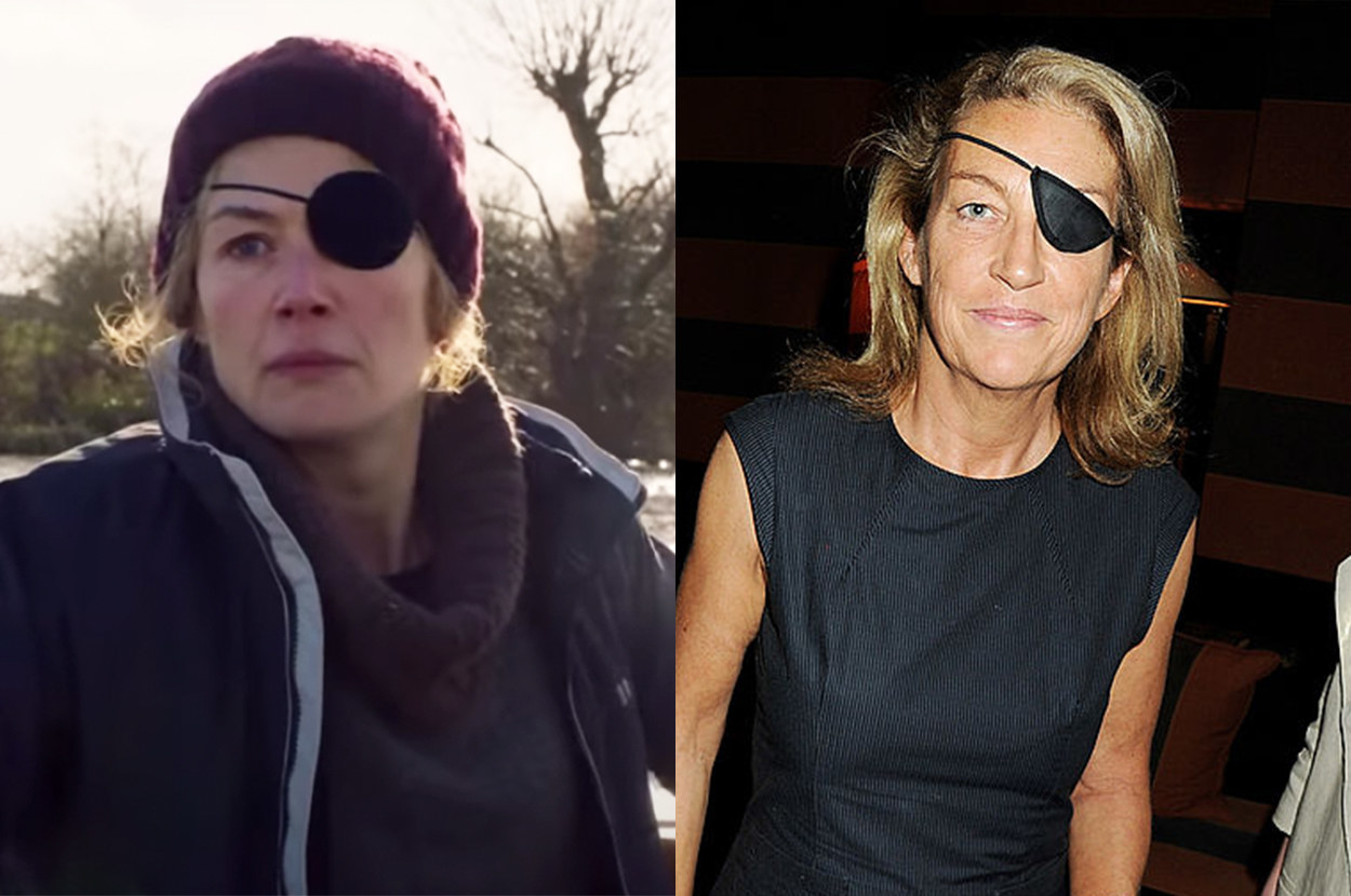 Rosamund wore an eye patch to play Colvin