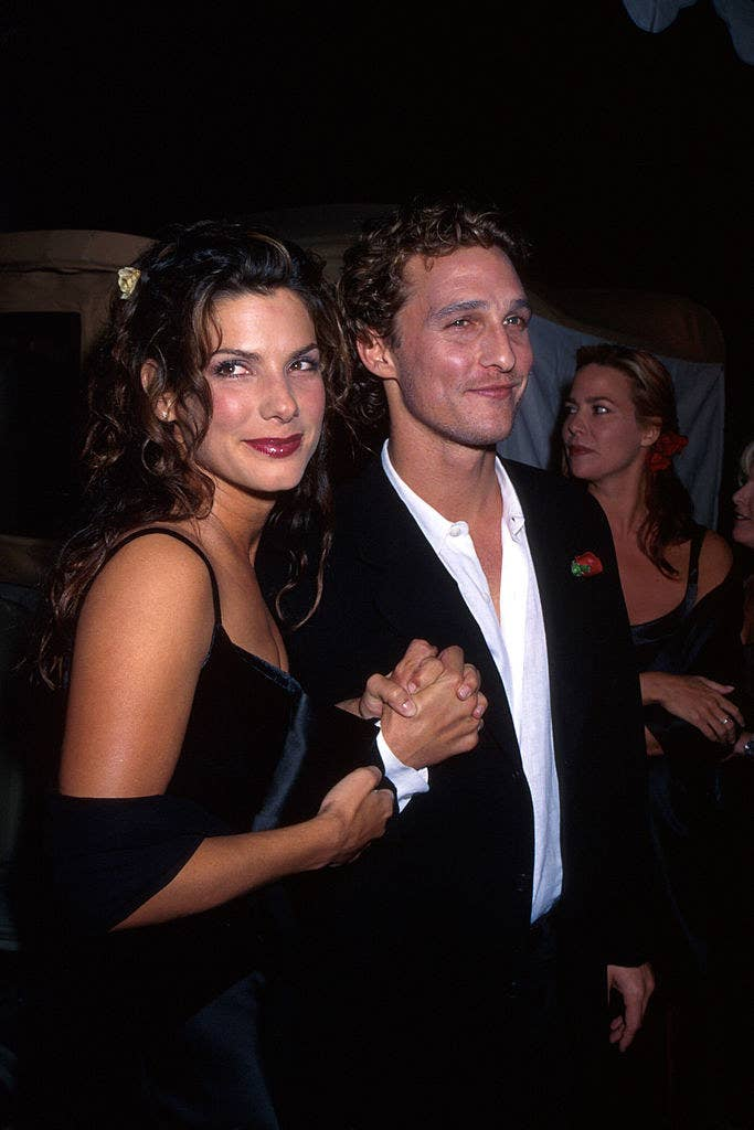 "Bullock and McConaughey at the ""In Love and War"" movie premiere, late '90s"