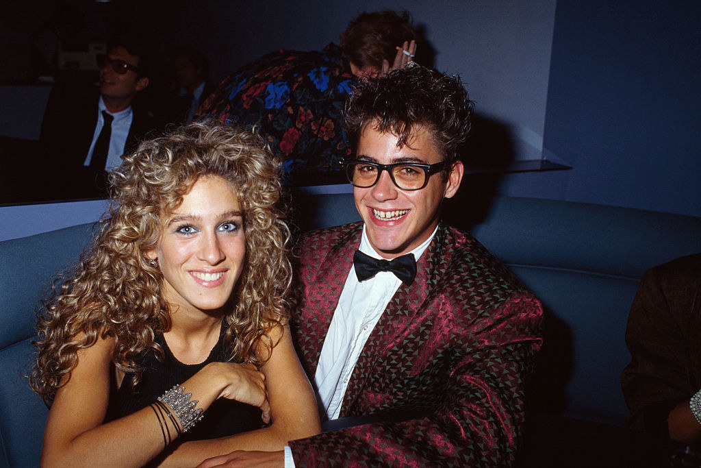 Sarah Jessica Parker and Robert Downey Jr at a club in the mid-'80s