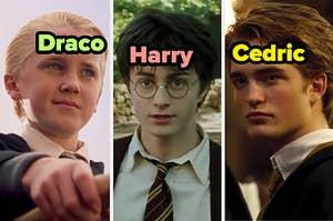 Draco, Harry, and Cedric