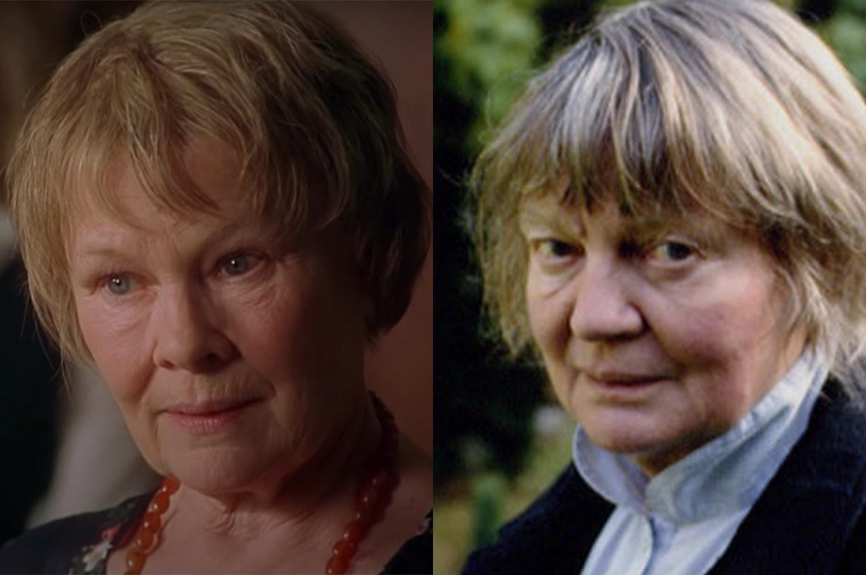 Judi looks strikingly similar to Iris