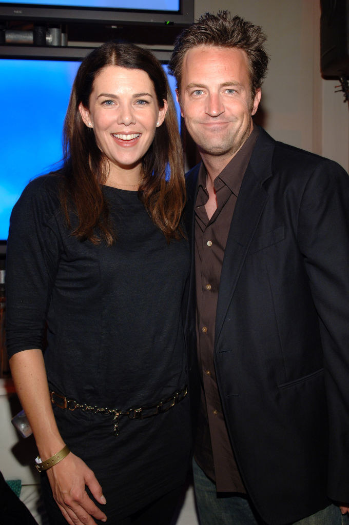Lauren Graham and Matthew Perry at a pre-Emmy party in 2006