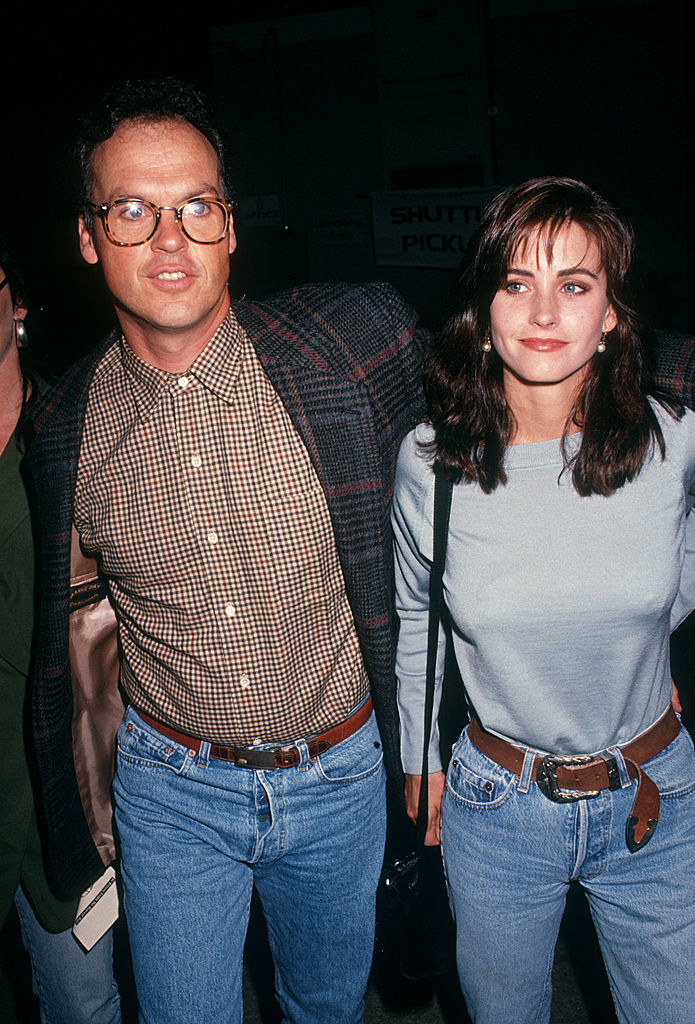 "Courteney Cox and Michael Keaton at the ""Evening Under the Harvest Moon Benefiting Tree People"" event in 1991"