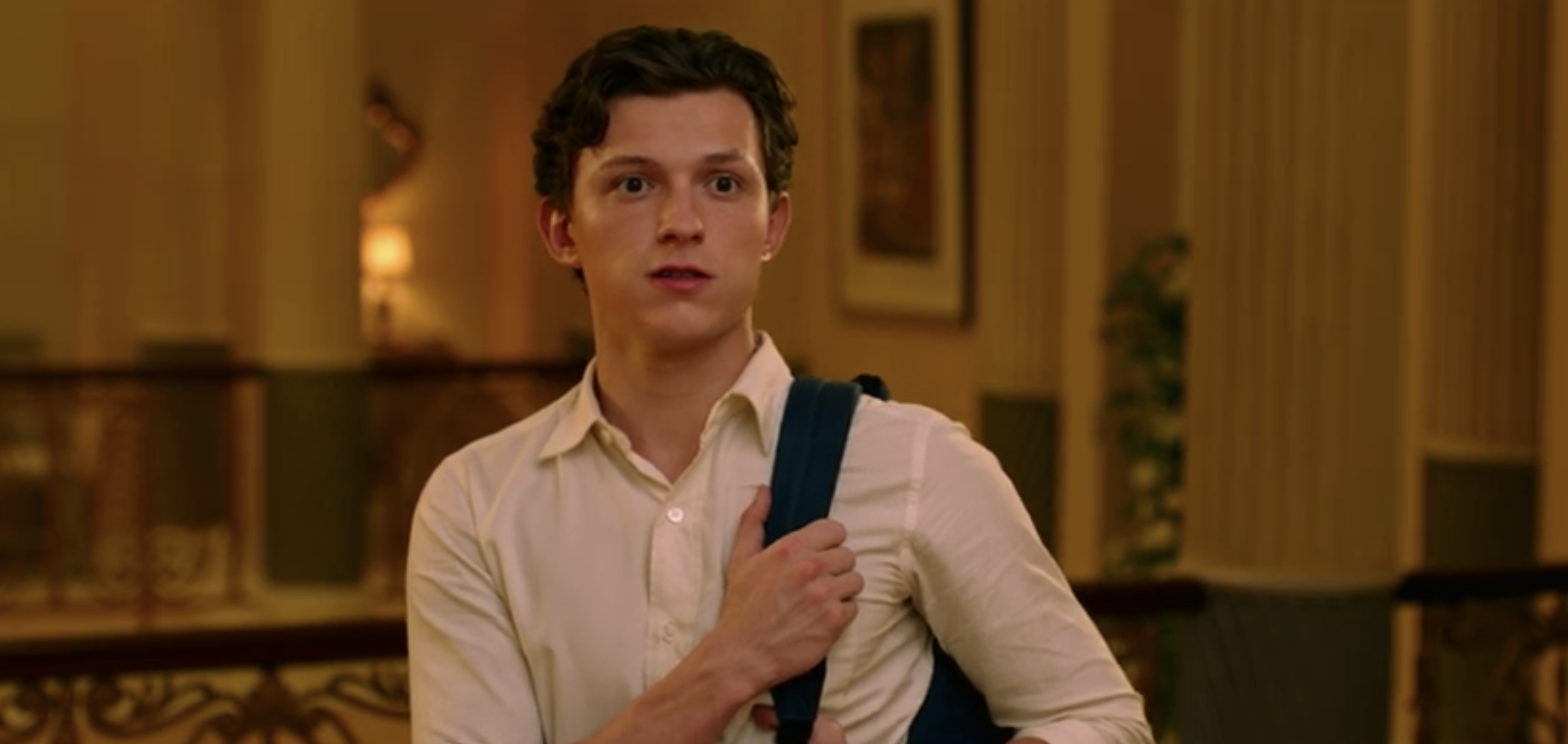 "Tom Holland as Peter Parker in ""Spider-Man: Far From Home"""