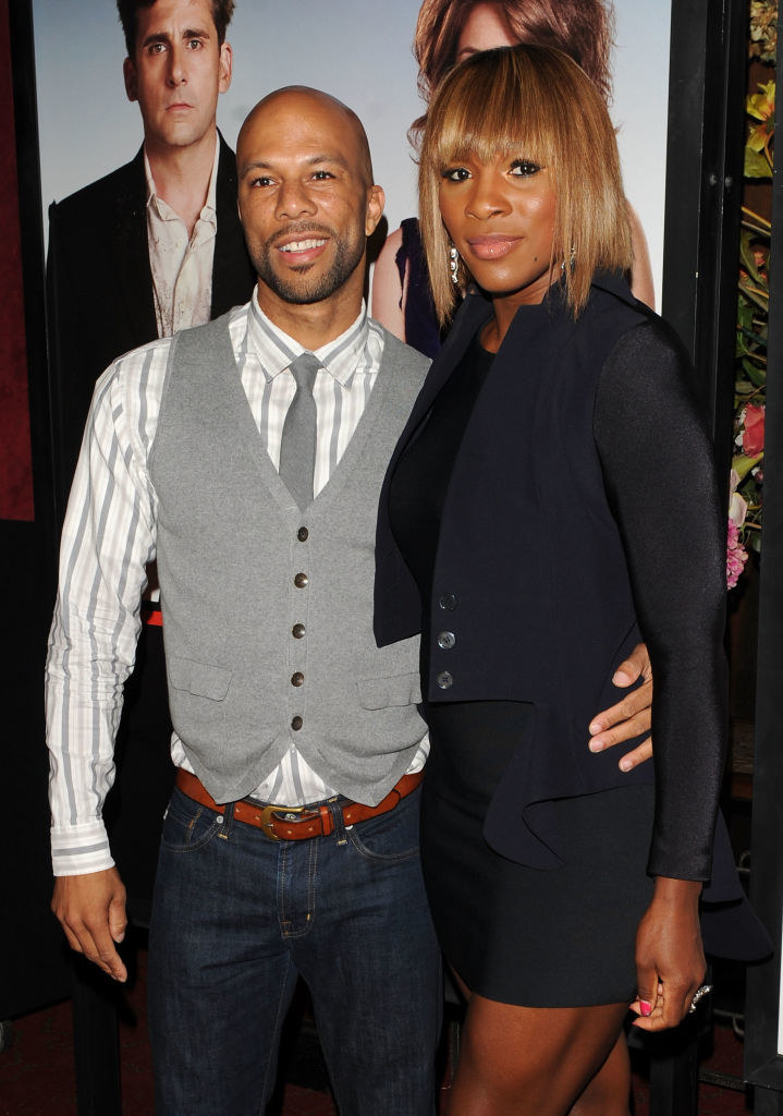 "Common and Serena Williams at the ""Date Night"" movie premiere in 2010"