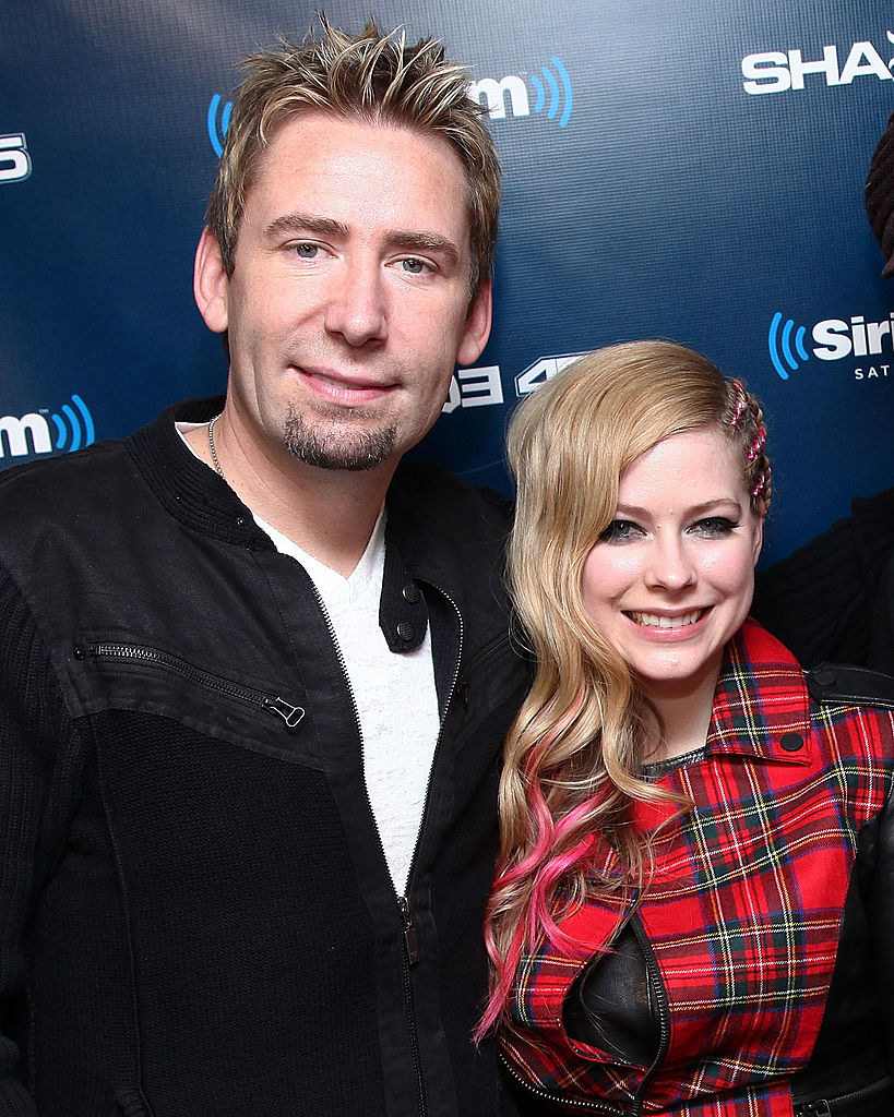 Chad Kroeger and Avril Lavigne at SiriusXM in 2013