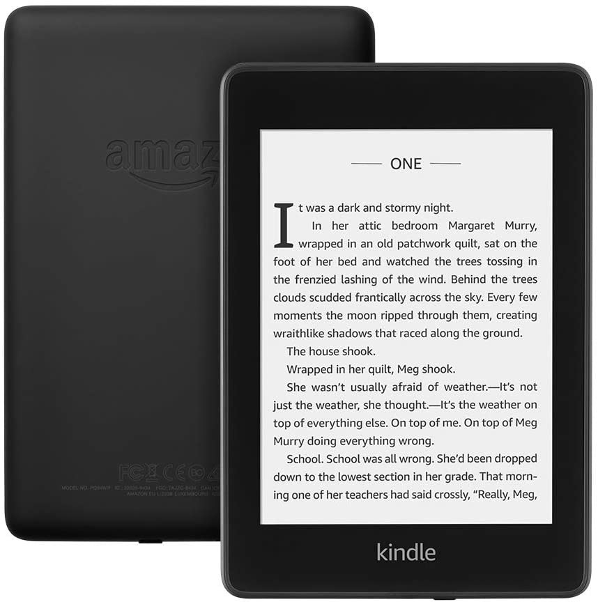 The black kindle paperwhite