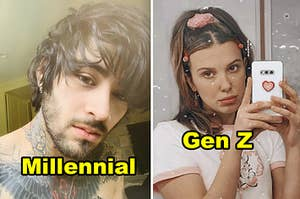 Side-by-side of Zayn Malik and Millie Bobby Brown
