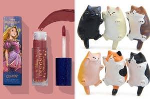 left, lipstick, right magnets