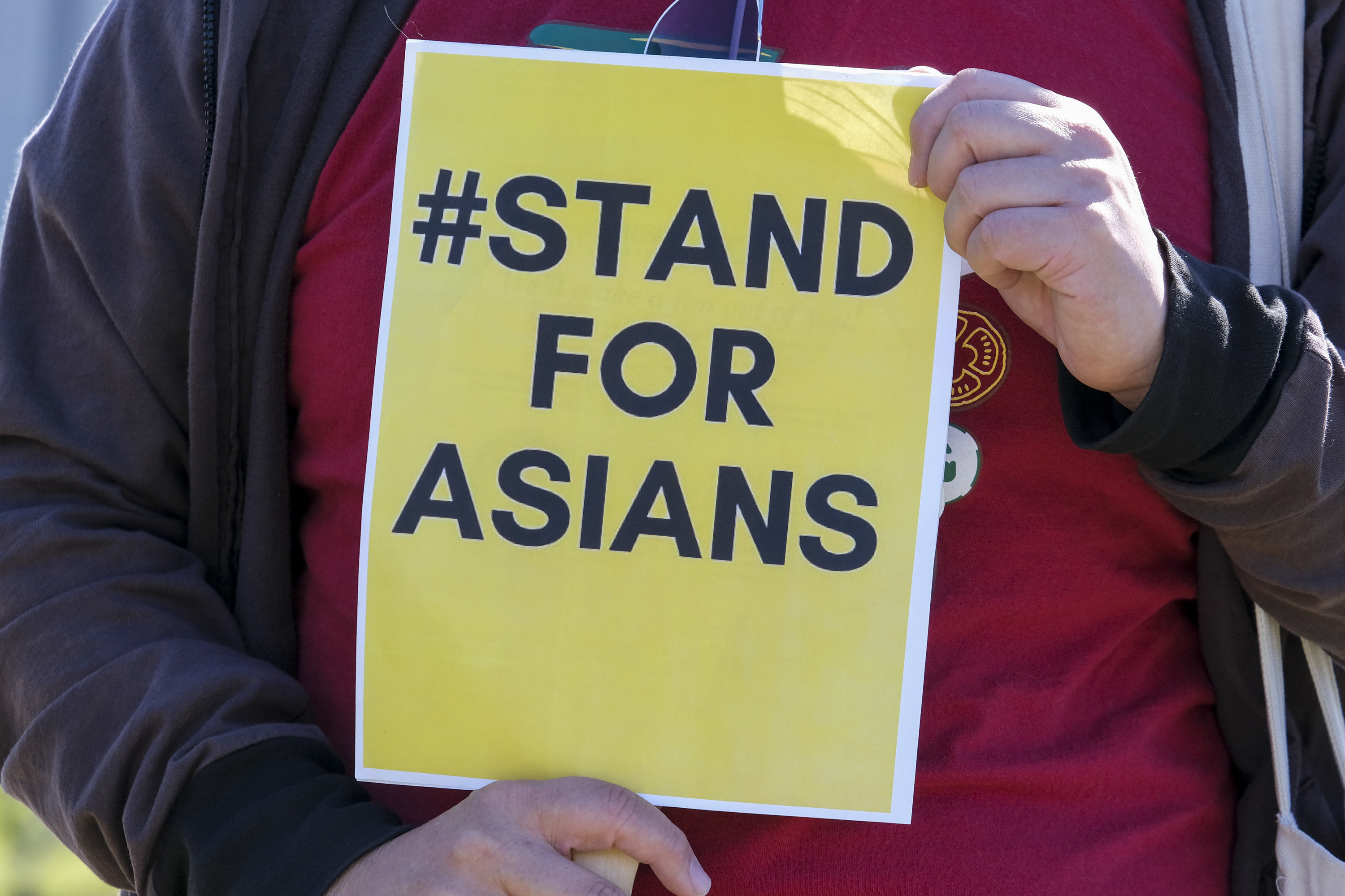 #StandForAsians Yellow Sign