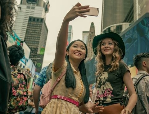 Lara Jean and Chris in Time Square