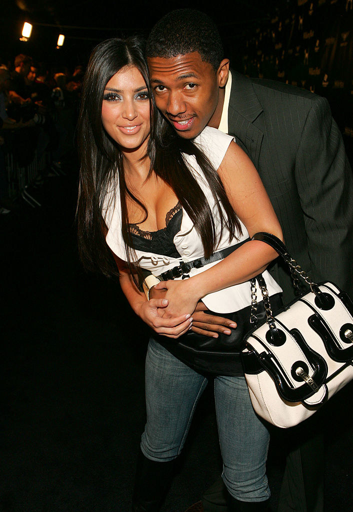 "Kardashian and Cannon on the red carpet for ""Street Sexy"" in 2007"