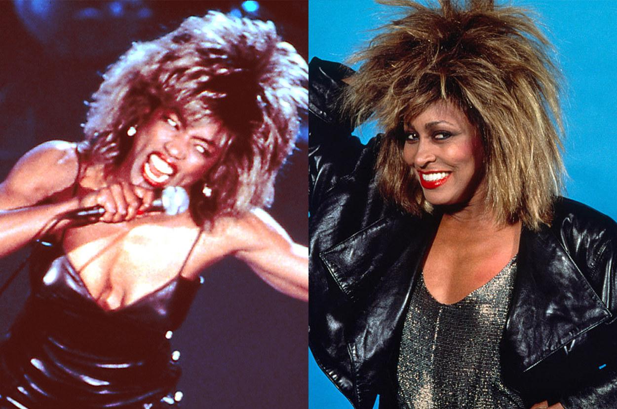 Angela sports Turner's iconic rockstar hairdo