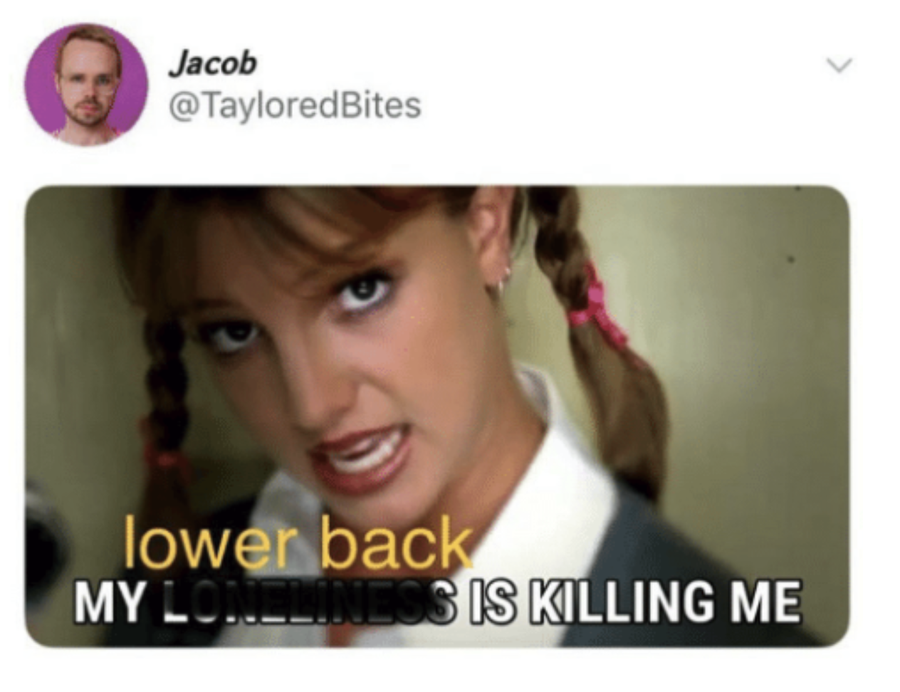 tweet about lower backs hurting